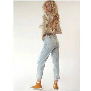 NEW Free People Powell Boyfriend Pull On Jeans